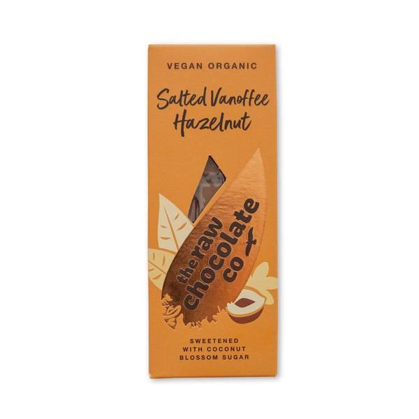 Bilde av Vegansk sjokolade Salted Vanoffee Hazelnut, 38g / The Raw Chocol
