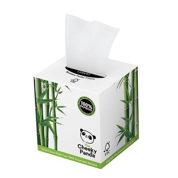 Bilde av Bambus papirlommetørklær på boks / The Cheeky Panda