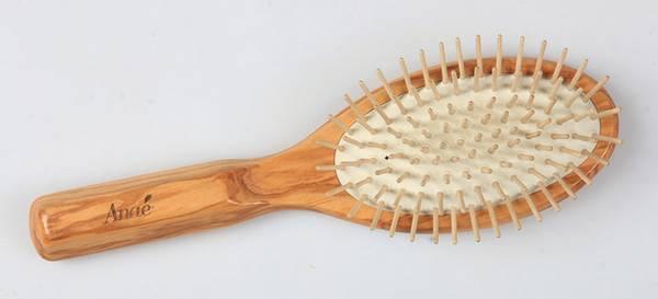 Bilde av Plastfri/vegansk hårbørste i oliventre / Anaé