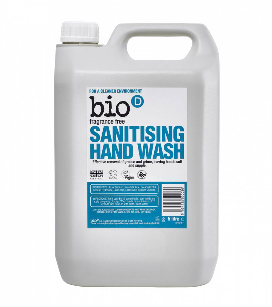 5L duftfri anti-bakteriell håndsåpe /Bio-D