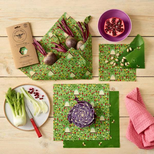 Bilde av 5-pk bivoksark Large kitchen pack // Land / The Beeswax Wrap