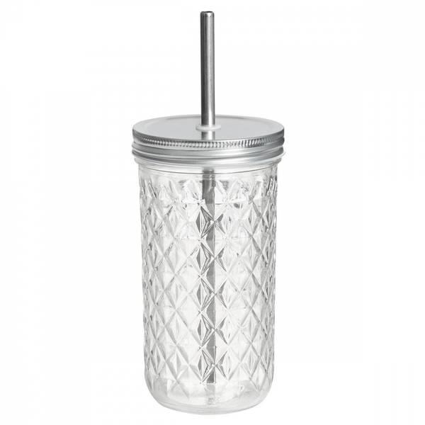 Bilde av 6 dl Smoothieglass med lokk og sugerør / Beeorganic