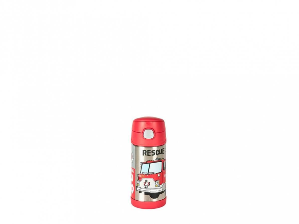 Termoflaske til barn med sugerør 355ml, Brannbil / Thermos