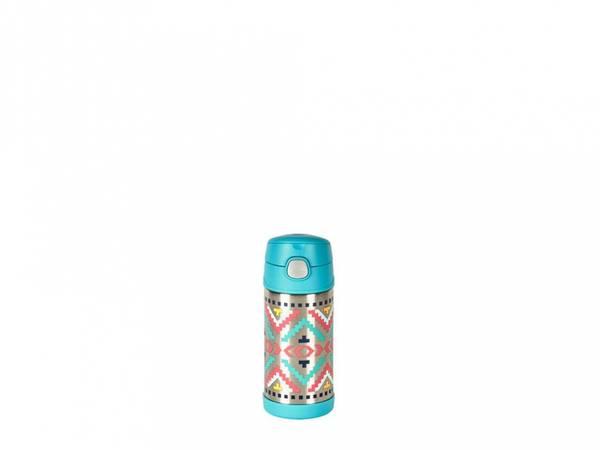 Bilde av Termoflaske til barn med sugerør 355ml, Mønster / Thermos