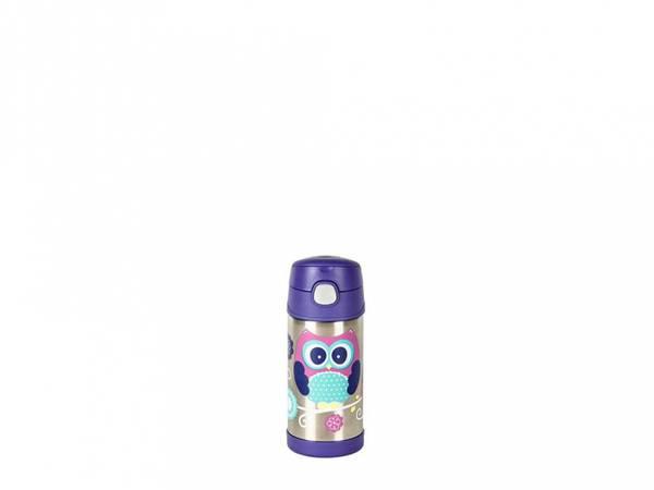 Bilde av Termoflaske til barn med sugerør 355ml, Ugle / Thermos