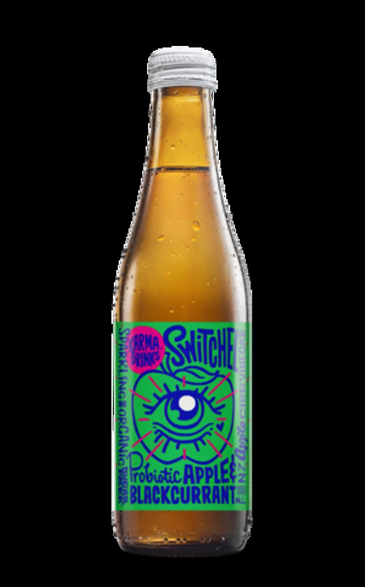 Probiotisk drikk, Eple & Solbær 330ml / Karma Drinks