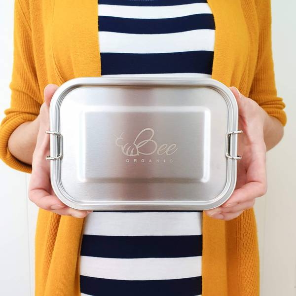 Bilde av 800 ml lekksikker matboks i stål med uttakbar midtdeler / Beeorg