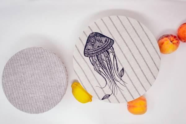 Bilde av str. M/L 2-pk bolletrekk // Jelly fish & Stripes