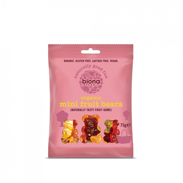 Bilde av Vingummi mini-bjørner 75g / Biona Organic