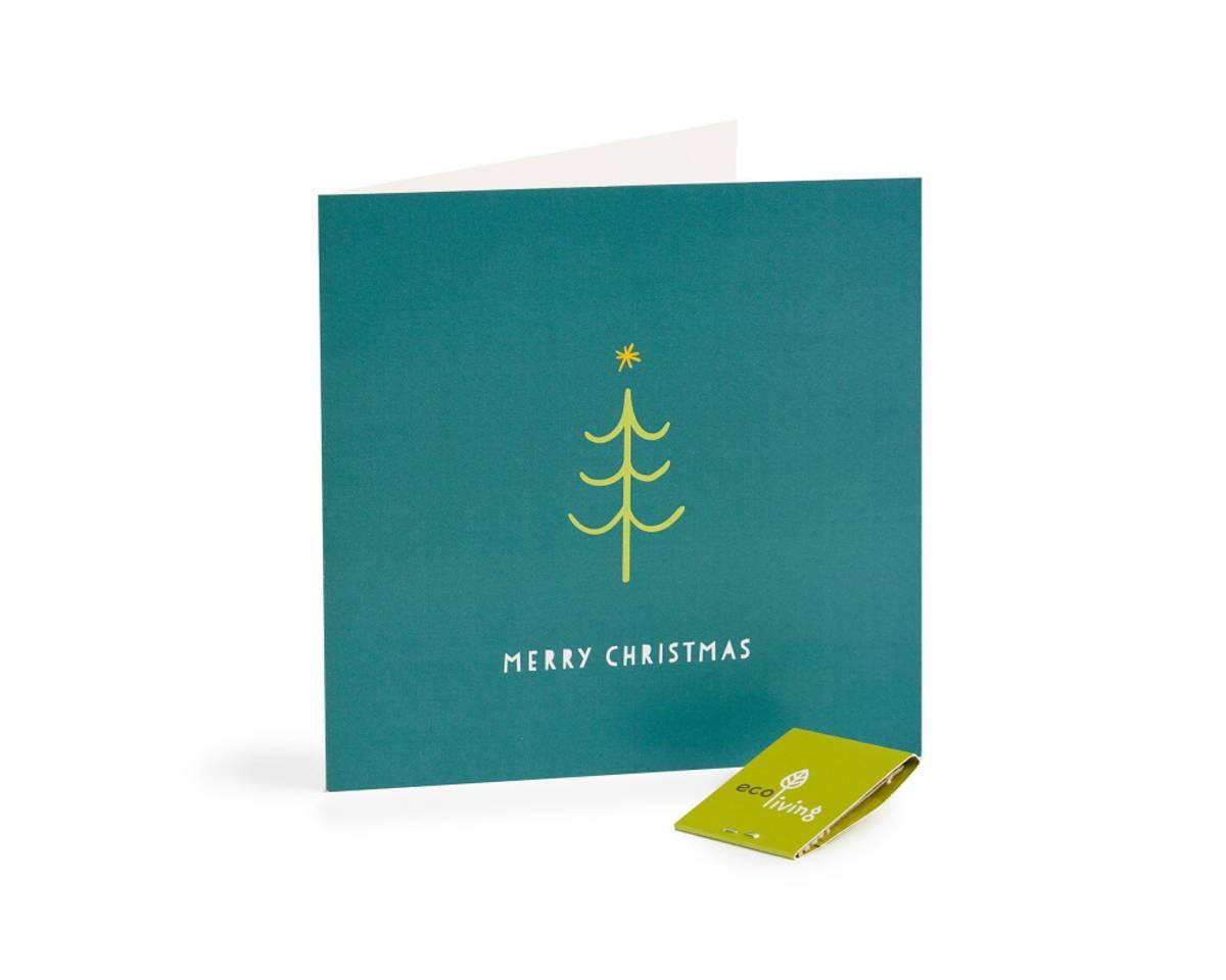 Tree resirkulert julekort m/konvolutt