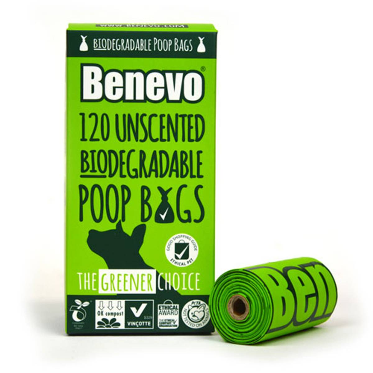 Nedbrytbare hundeposer 120stk / Benevo