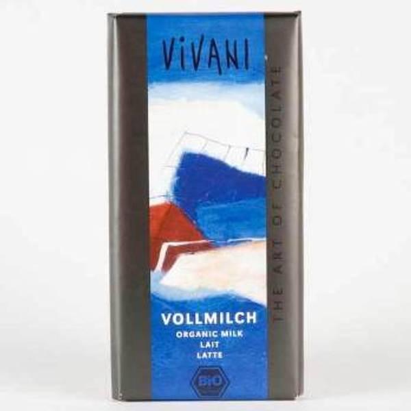 Bilde av Økologisk melkesjokolade 100g / Vivani
