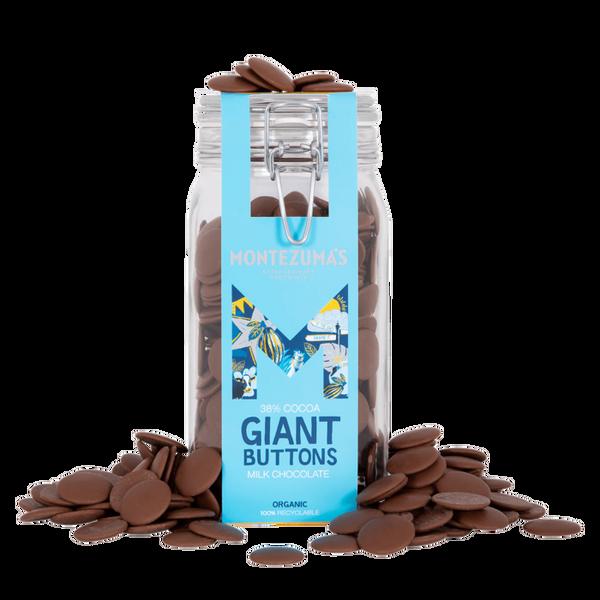 Bilde av Giant Buttons 38% kakao, 900g- melkesjokoladebiter på glass / Mo