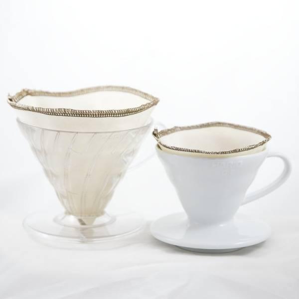 Bilde av CoffeeSock® 2-pk kaffefilter Hario V60-02 økologisk bomull