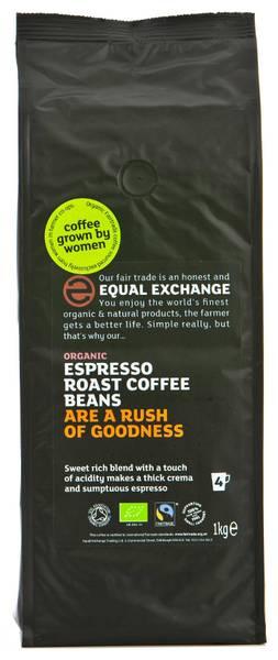 Bilde av 1kg økologiske kaffebønner, Espresso / Equal Exchange