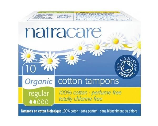 Bilde av 10 stk REGULAR økologiske tamponger / Natracare