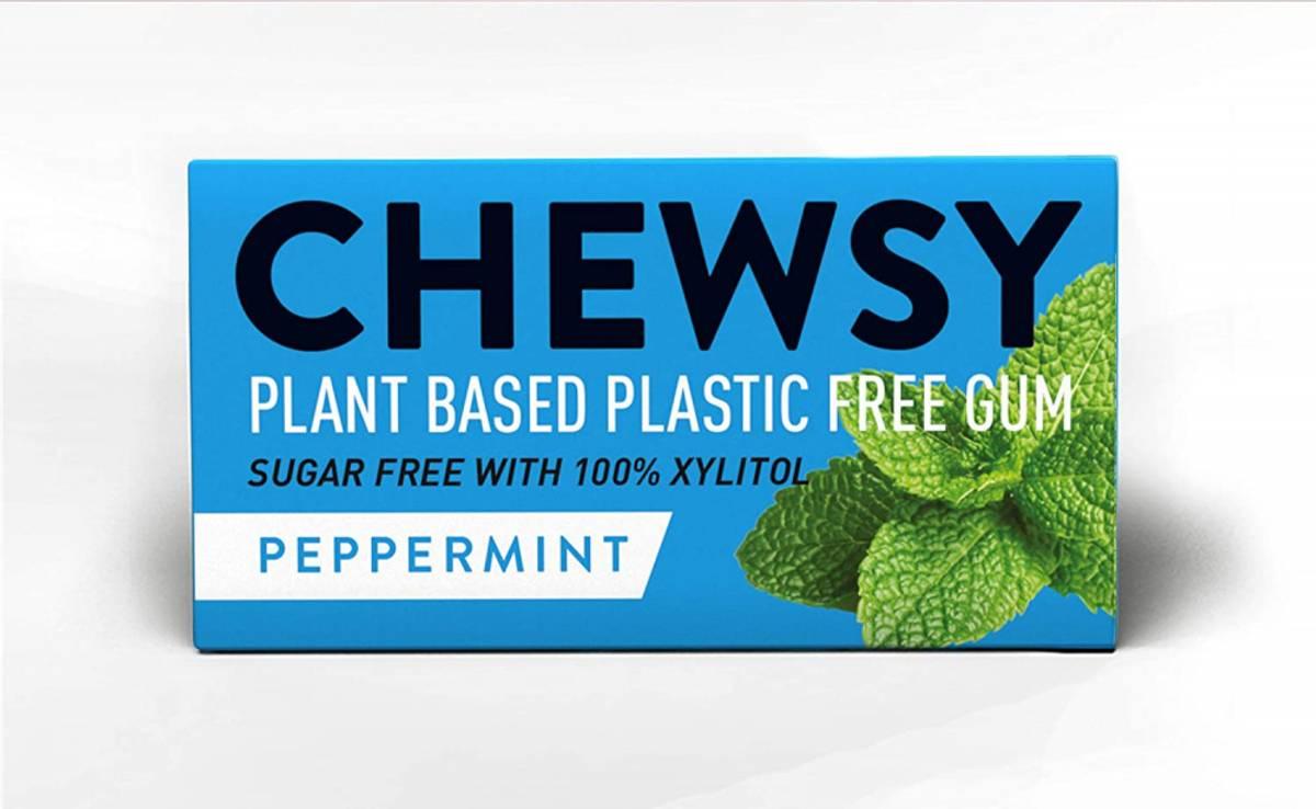 10 stk naturlig tyggis, Peppermint  / Chewsy