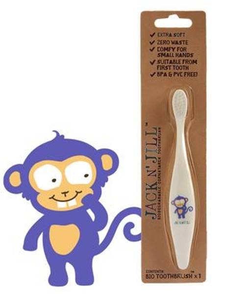 Bilde av Tannbørste til barn, Apekatt / Jack N´Jill