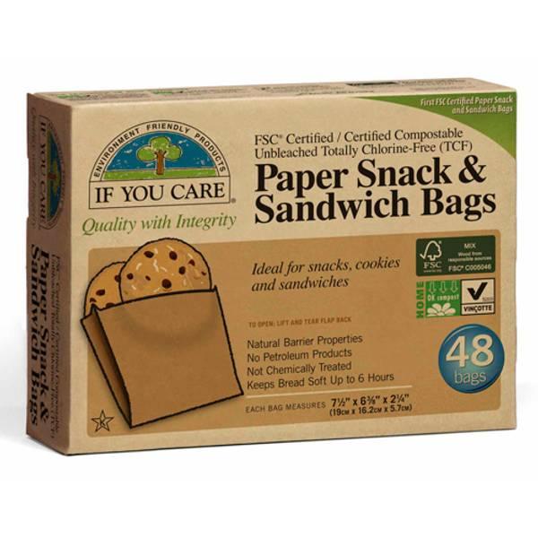 Bilde av  If you Care papirposer ubleket 48 stk