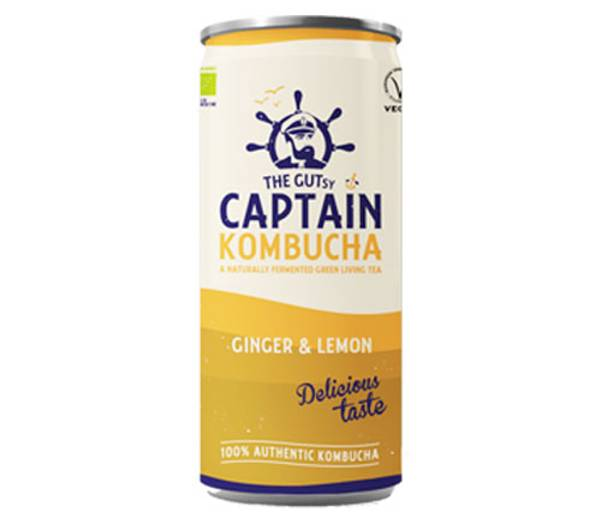 Bilde av Kombucha Ginger Lemon 250 ml / Captain Kombucha