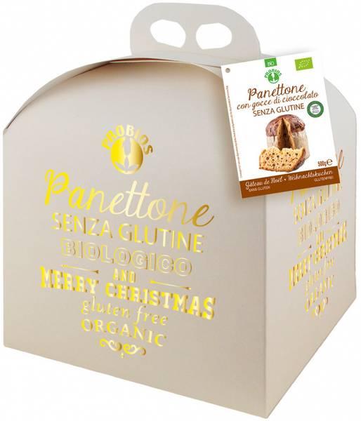 Bilde av Glutenfri panettone m/sjokoladebiter 500g, økologisk