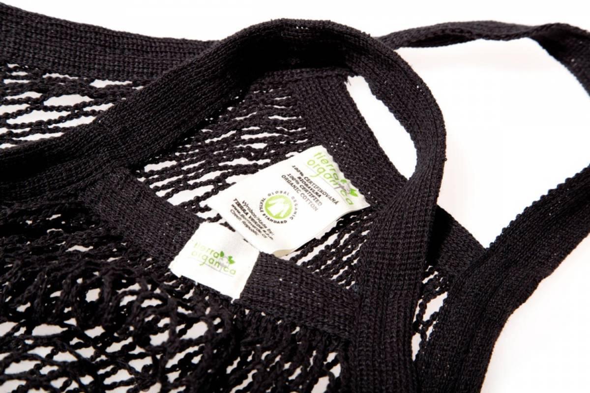 Nettingnett Sort, med korte håndtak. / Casa Organica