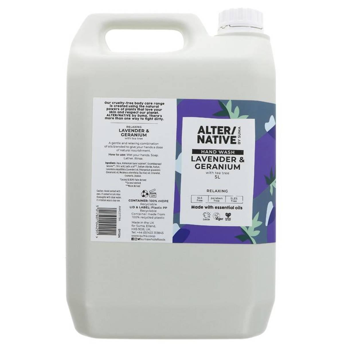 5L flytende håndsåpe  Lavender & Geranium / Alter/native