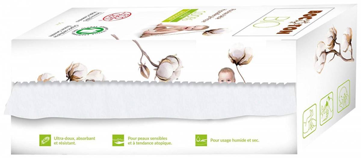 Bocoton Tørrservietter på rull, 50 ark. Økologisk bomull