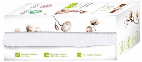Bilde av Bocoton Tørrservietter på rull, 50 ark. Økologisk bomull