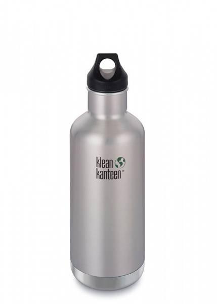 Bilde av Stor termoflaske/drikkeflaske 946 ml, Brushed Stainless / Klean