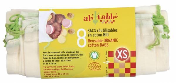 Bilde av 8-pk økologiske gasposer str. XS fra AhTable.