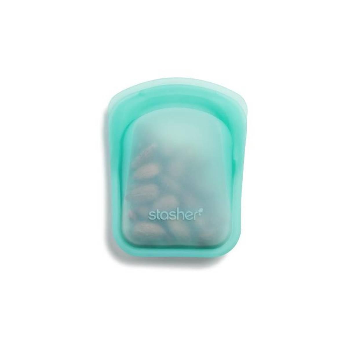 Stasher Pocket Size, Clear & Aqua / Stasher Bags
