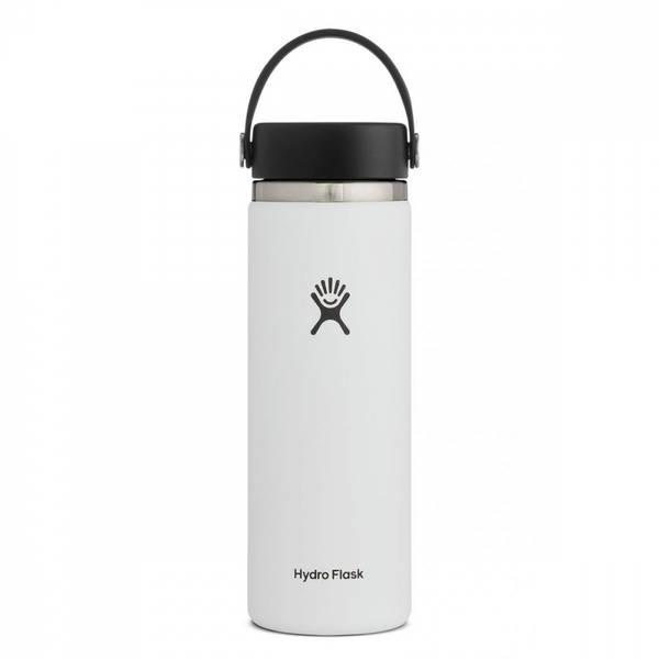 Bilde av Termoflaske 591ml, WHITE, Wide Mouth Flex Cap / Hydro Flask