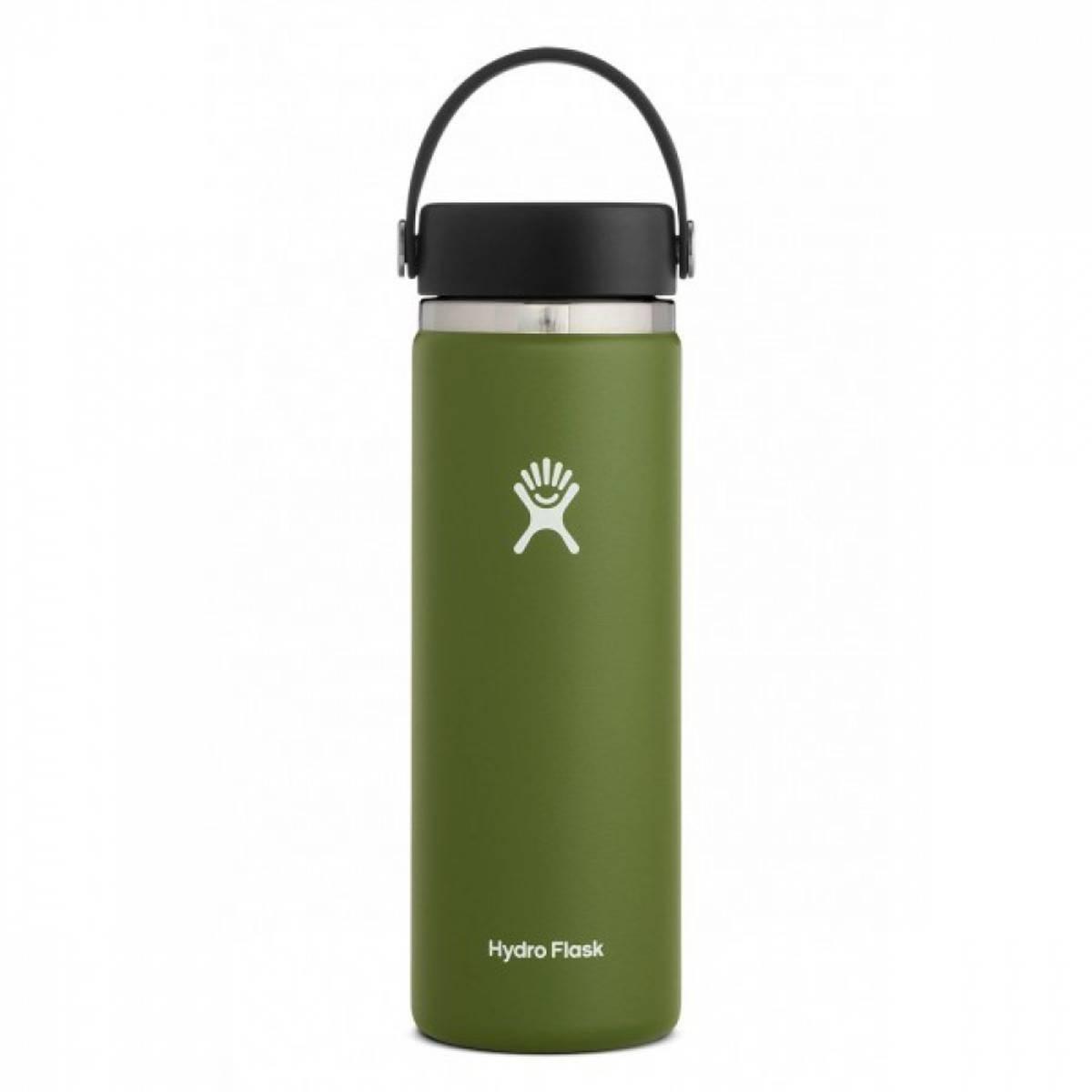 Termoflaske 591ml, OLIVE,Wide Mouth Flex Cap / Hydro Flask
