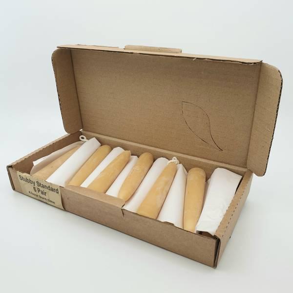 Bilde av 12 stk SMÅbivokslys/kronelys, 11.5cm x 2.2cm / Moorland Candles