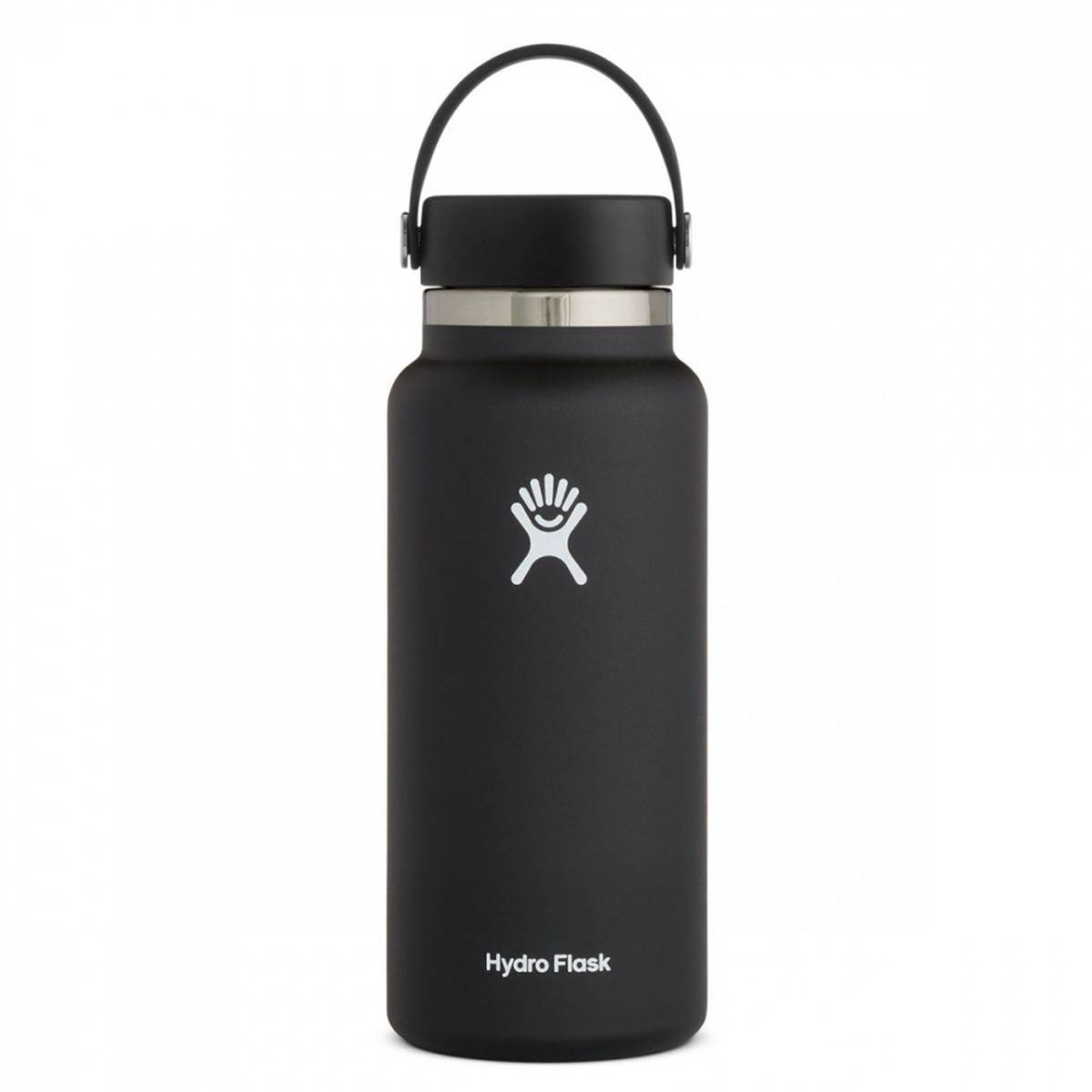 Termoflaske 946 ml, BLACK, Wide Mouth Flex Cap / Hydro Flask