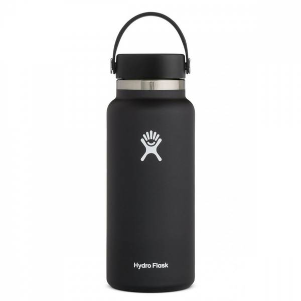 Bilde av Termoflaske 946 ml, BLACK,Wide Mouth Flex Cap / Hydro Flask