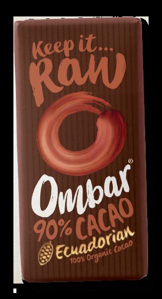 Bilde av 90% Kakao 35g, rå sjokolade / Ombar