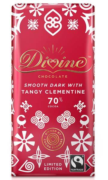 Bilde av Mørk sjokolade med klementin 90g / Divine