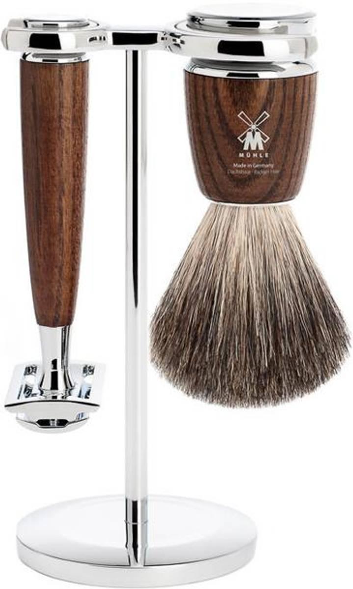 Barbersett 3 deler - Rytmo ASK, Pure Badger / Mühle