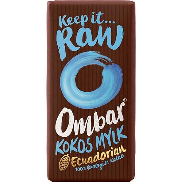Bilde av Kokos MYLK 55% 70g, rå og økologisk sjokolade / Ombar
