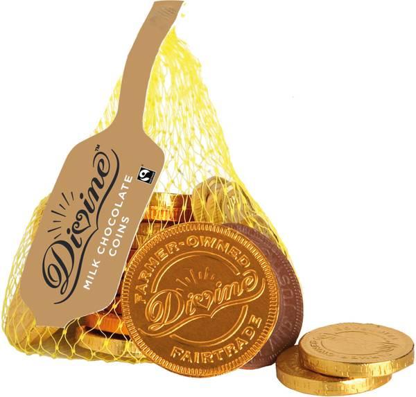 Bilde av 15 sjokolademynter med melkesjokolade / Divine