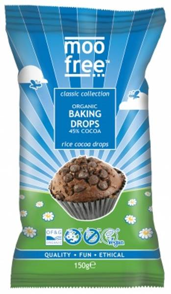 Bilde av Veganske sjokoladebiter til baking 150g / Moo Free Chocolates