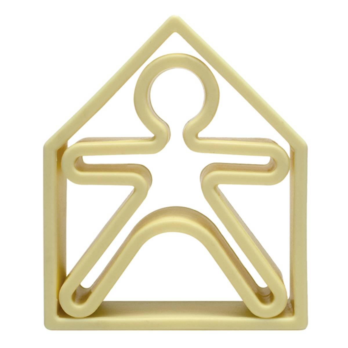 Hus og figurer, pastell - leker i silikon / Dëna Toys
