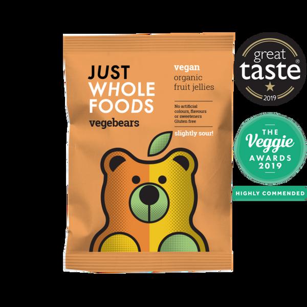 Bilde av Smågodt Vegebears Slightly Sour 100g / Just Wholefoods