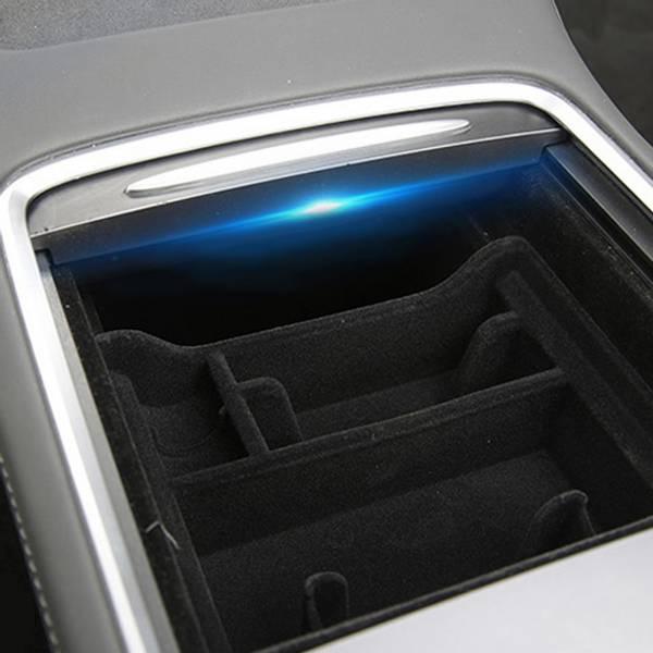 Midtkonsoll oppbevaring med mobilholder Tesla Model 3 Y