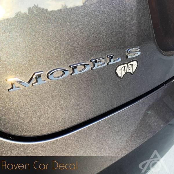 Raven klistremerke Tesla Model S X