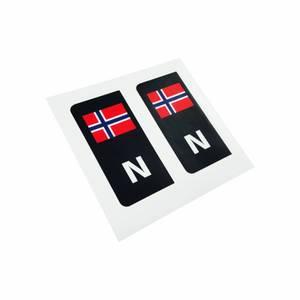 Bilde av Norgesmerke (sort) til bilskilt
