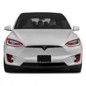 Bilde av Tesla Model X 2016 -> Lyktbeskytter-Folie