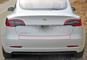 Bilde av Tesla Model 3 2018-> Bakfangerbeskytter Folie